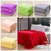 6 Colors 150x200cm Flannel Warm Luxury Coral Blanket Sofa Bed Bedding Warm Soft Quilt