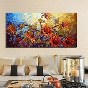 60*120CM Frameless Colorful Flowers Modern Artist Oil Painting Canvas Wall Decor