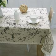 World Map Elegant Lace Table Cloth Linen Tablecloth Table Cover Decorative