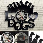 Dog Collar Exclusive Wall Clock Vinyl Record Timer 12 Inch Living Room Bedroom Fashion Wall Clock