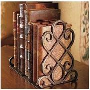 2pcs Copper Metal Retro Book Antique Bookends Holder Book Storage Stent Bookshelf