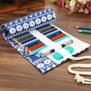 Canvas Pencil Wrap Roll up Case