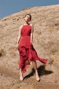 ALL IN MIDI DRESS rose red
