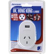 Jackson Outbound USB Travel Adaptor - UK