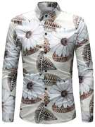 3D Leaves Pattern Shirt