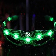 YWXLight LED Spider Man Glasses Luminous Halloween Party Decoration Supplies