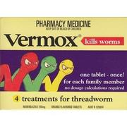 Vermox Worm Treatment 100 mg 4 Tablets