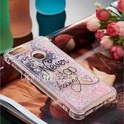 Case For Huawei P10 Lite / Huawei P smart Shockproof / Flowing Liquid / Pattern Back Cover Word / Phrase Soft TPU for P10 Lite / P8 Lite