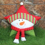 Christmas Party Decoration Supplies Snowman Star Pillow