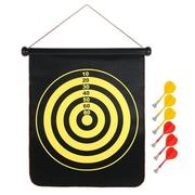 17 Inch Roll Up Magnetic Dartboard Hanging Dart Board Game with 6 Darts
