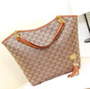 New 2014 Women Messenger Bags Canvas and PU e Letter Shoulder Bags Shopping Bags Women Handbags Wholesale B003