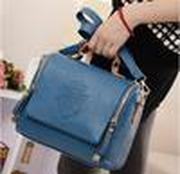PU leather Candy Color Double zipper crown fashion women shoulder bag women leather handbags women messenger bags women handbag