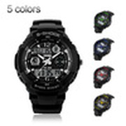 men sports watches digital watches 2 time zone quartz Chronograph jelly silicone swim 30M Waterproof led watches men Dropship