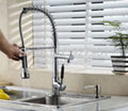 Pull Out Or Down Kitchen Faucet Chrome Finish Swivel Kitchen Sink Mixer Vessel Tap Spray Faucet For  Kitchen