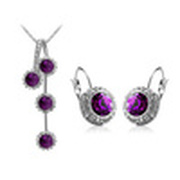 CS12 mineral crystal fashion jewelry sets factory price jewelry wholesales  for women