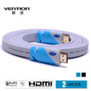 Vention HDMI Cable High Speed Flat  Blue Color 2m with Ethernet Cabo HDMI 3D 1.4v 1080P For Computer/HD-TV/PS3/XBOX/Monitors