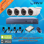 8CH H.264 HD Network NVR Kits 1.0 MegaPixel 1280*720P Resolution IR Network IP Camera CCTV System