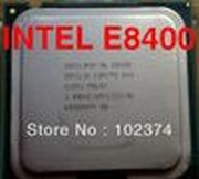 E8400 Original Desktop Intel Core 2 Duo CPU E8400 3.0GHz 6MB 1333MHz For LGA 775 Cpu wholesale and retail Free Shipping