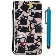 Case For Huawei P20 lite / Huawei P smart Wallet / Card Holder / with Stand Full Body Cases Cat Hard PU Leather for Huawei P20 / Huawei P20 lite / Huawei P smart