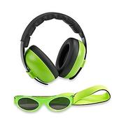 Baby Banz Baby Earmuff and Sunglasses Combination Pack - Lime