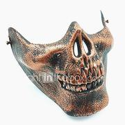 Skull Skeleton Airsoft Paintball Half Face Protective Gear Mask Guard Halloween Masquerade Cosplay Party Costume Prop