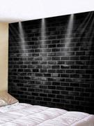 Lighting Brick Printed Tapestry Wall Art Decoration