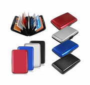 Rfid Blocker Credit Card Wallet and Organizer - RED