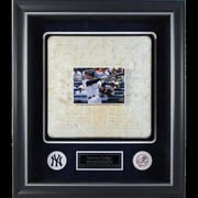 Aaron Judge Framed Rookie Season Game Used Base Collage w/ 2017 Yankee Game Used Base