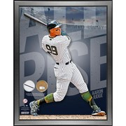 "Aaron Judge New York Yankees ""All Rise"" Framed 20x24  with Game Used Yankee Stadium Dirt a"