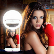 LED Selfie Ring Light- Fits All Smart Phones - White