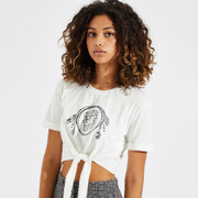 Knot Front Graphic Tee